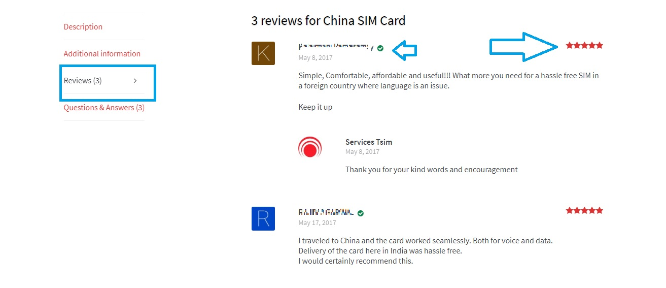 Online Product reviews and ratings