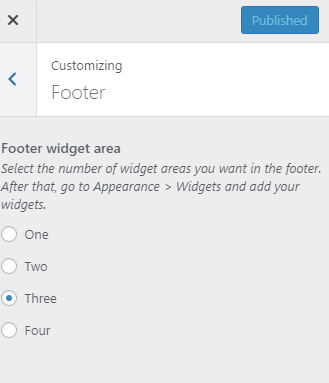 Customizing footer
