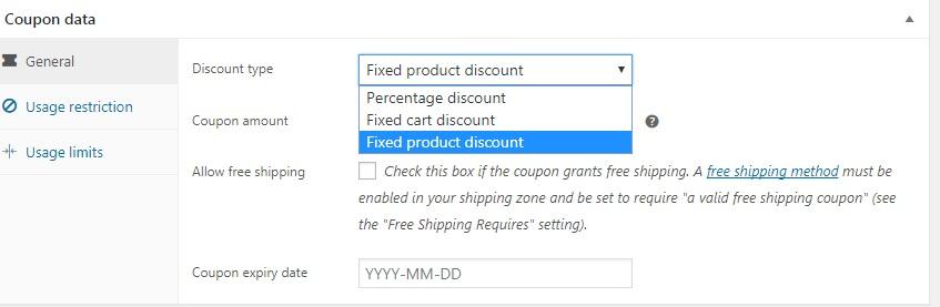 Discount type