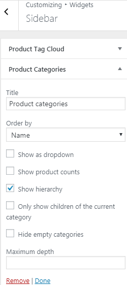 Display tags and categories