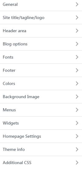 WordPress Dashboard->Customize