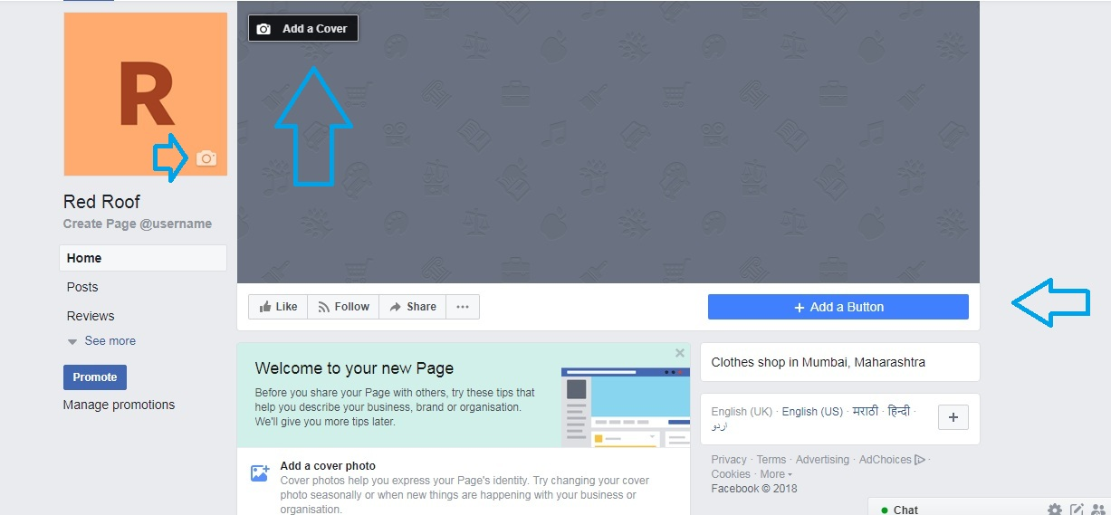 Facebook profile and cover image