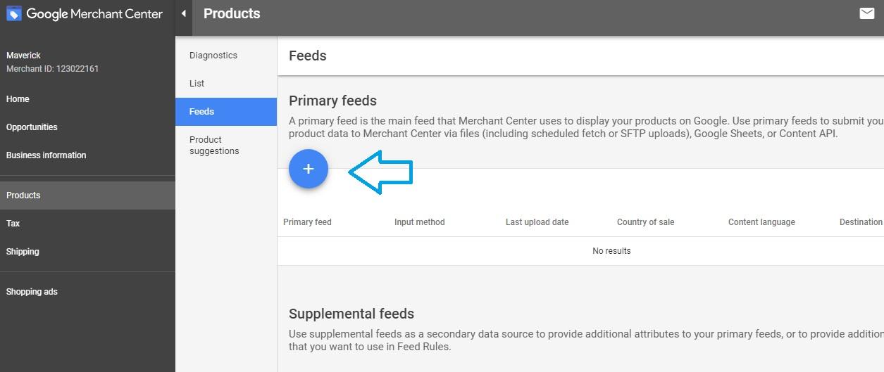 Uplaoding a feed in Google Merchant Center