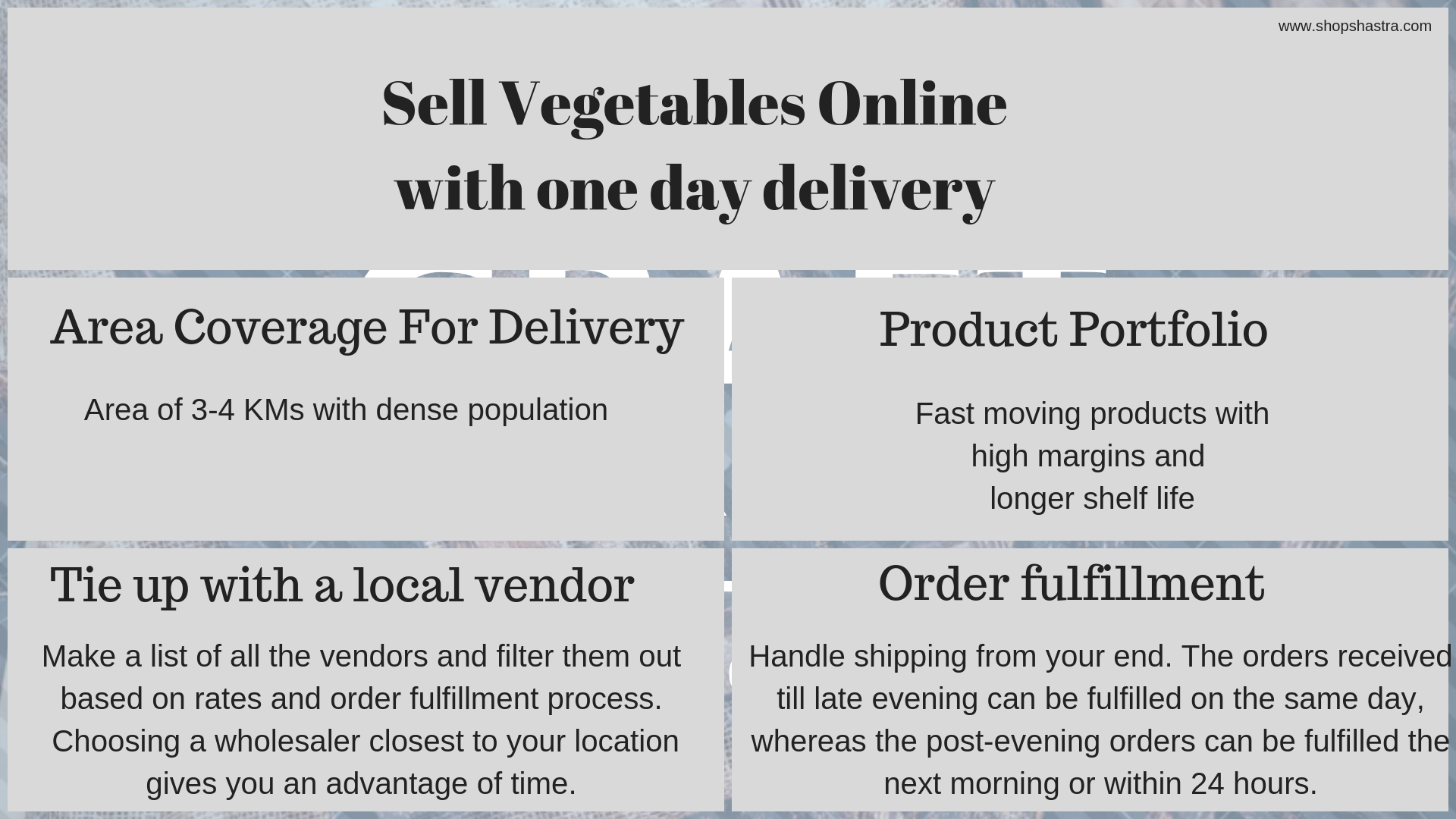 Sell Vegetables Online